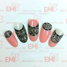 Материалы для дизайна: #EmiLac 012 Истинная леди, Топ EmiLac; #Empasta Черная…