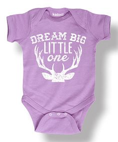 Another great find on #zulily! Lavender 'Dream Big Little One' Bodysuit - Infant #zulilyfinds