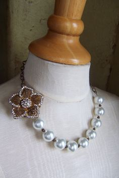Sadie's Things, Vintage Jewelry, Reimagined: Lovin' Statement Necklaces! (and repurposed vintage jewelry)