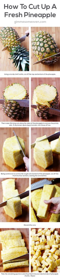 How to cut a Pineapple -- I always need to look this up!