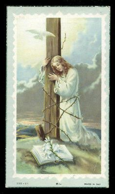 Holy Cross, Jesus Loves You, Catholic Art, Christianity, Religion, Faith, Cards, Painting, Christian Art