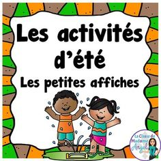 This freebie contains 16 mini posters of various summer activities children like to do. Vocabulary i Preschool Summer Camp, Summer Activities, French Summer, Bulletins, French Class, Camping Gifts, End Of Year, Elementary Schools, Mini