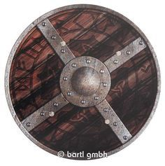 Bartl, Wikingerschild klassisch, Rundschild aus Holz mit Leder-Halteriemen auf der Rückseite | 111260 / EAN:4260379537262