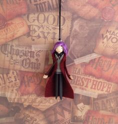 Nympodora Tonks Clothespin Doll Ornament by LittleParade on Etsy