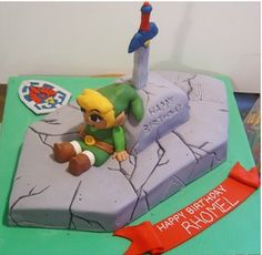 Cool Legend of Zelda Birthday Cake on Global Geek News.