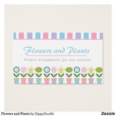 Flowers and Plants Business Card