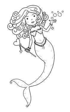 Another Template For Mermaid Collage. Mermaid Coloring Page ...