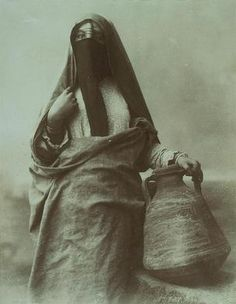 Veiled Woman with Jar. Zangaki Brothers, c.1880s.
