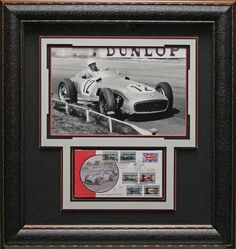 Auto Racer Stirling Moss Authentically signed Commemorative postal Cover Collage