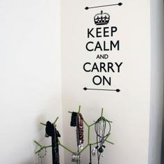Keep Calm and Carry On Wall Decal -Shop @ Cool Art Vinyl