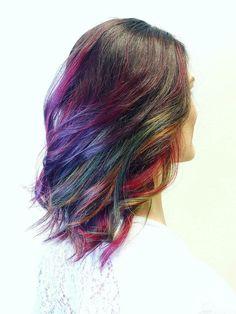 Colormelt rainbow hair using Matrix