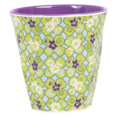 This Medium Two Tone Clover Print Melamine Cup can be used for hot and cold drinks, random accessories, or even as a small vase for small flowers.