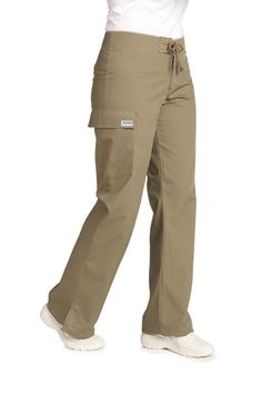 This MOBB Medical Wear scrub petite pant is great for those looking for something a little more fashion forward than the traditional scrub pant. No elastic or drawstring this pant features a decorative lace up, low rise waist and flared bottom. Mobb, Petite Pants, Scrub Pants, Flare Pants, Scrubs, Fashion Forward, Elastic Waist, Khaki Pants, Women Wear