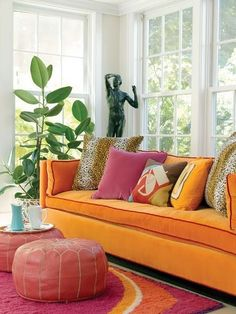 Orange #sofas armchairs, seating, furniture design #decorating chaise longue, recliner, dining chairs, sofabed, lounge chairs, upholstery, tufted sofas, #interiordesign chesterfield, welting, sectional sofas