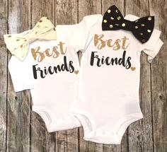 A personal favorite from my Etsy shop https://www.etsy.com/listing/270029223/best-friends-shirts-best-friends-onesies