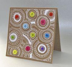 cercles et graphismes - Art aborigène Carte Fête des mères