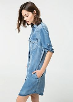 Robe denim moyen