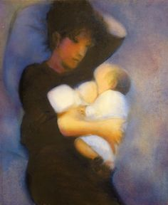ARTFINDER: Mother and son 2 by Frederic Belaubre - Original oil painting