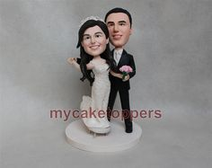 wedding cake topper bride and groom cake topper dancing hand crafted Christmas gift unqiue cake topper by dealeasynet. Explore more products on http://dealeasynet.etsy.com
