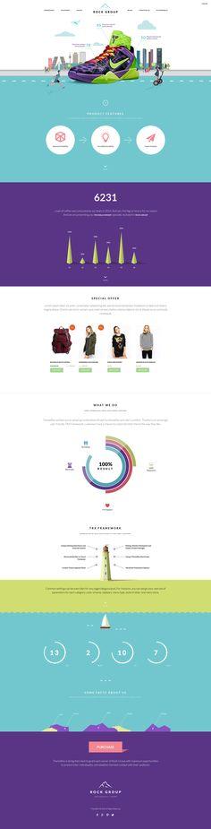 Rock Group   Multipurpose Infographic Theme on Behance
