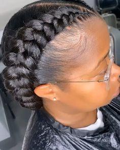 Rock Hairstyles, Braided Ponytail Hairstyles, African Braids Hairstyles, Hair Up Styles, Natural Hair Styles, Cool Braids, 2 Braids, Straight Back Braids, 2 Feed In Braids