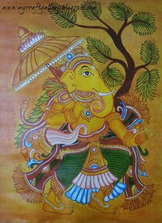 You might be thinking where I had vanished these days…I had gone to my native place to attend a family function, When I came back I was . Ganesha Painting, Ganesha Art, Ganesh Rangoli, Kolam Rangoli, Lord Ganesha, Kerala Mural Painting, Tanjore Painting, Painting Art, Tulip Drawing