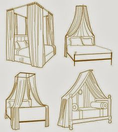 Two curtain rods with curtains yes!! | Deco | Pinterest | Bed canopies Canopy and Bedrooms  sc 1 st  Pinterest & Two curtain rods with curtains yes!! | Deco | Pinterest | Bed ...