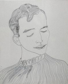 Andy Warhol. Untitled (Unknown Male). c. 1957 / ballpoint pen on paper. Warhols early illustration work had a unique whimsical quality that people still respond to.
