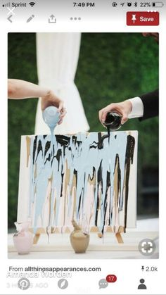 Wedding Ceremony Unity Painting Canvases Ideas For 2019 You are in the right place about wedding ceremony decorations purple Here we offer you the most beautiful pictures about the wedding ceremon Wedding Ceremony Ideas, Diy Wedding Buffet, Rustic Wedding, Ceremony Signs, Nautical Wedding, Trendy Wedding, Elegant Wedding, Wedding Table, Wedding Events
