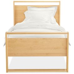 Dayton Kids' Wood Bed - Modern Beds - Modern Kids Furniture - Room & Board-make it with guard rails. Livviejane's sons bed is from here. Modern Kids Bedroom, Modern Kids Furniture, Modern Beds, Modern Bedding, Furniture Ideas, Bedroom Ideas, Parents Room, Kids Wood, Wood Beds
