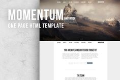 Check out Momentum - One Page responsive HTML by 4Folio on Creative Market