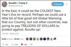 by John Galt December 28, 2017 19:25 ET Just freaking awesome: In the East, it could be the COLDEST New Year's Eve on record. Perhaps we could use a little bit of that good old Global Warming that …