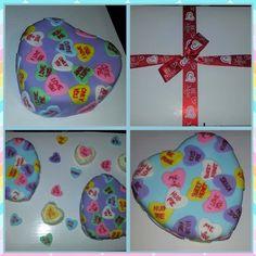 SweetHeart cakes w/ mini heart cupcakes
