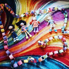 Our Torah Tots class created a beautiful long paper chain for Sukkot! Paper Chains, Torah, Vibrant, Create, Beautiful