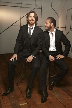 Christian Bale & Tom Hardy, The Dark Knight Rises two lots of gorgeousness !!!