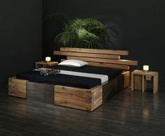 Moderne Holzbetten exklusives holzbett aus massiver eiche moderne holzbetten mit