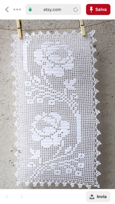 Filet Crochet, Pasta, Crochet Case, Bathroom Mat, Crochet Table Runner, Herb, Crochet Bedspread, Needlepoint, White Bedspreads