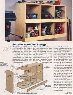 Portable Power Tool Storage - Workshop Solutions Plans, Tips and Tricks | WoodArchivist.com