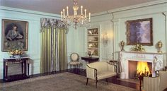 The Vermeil Room, circa 1981, looking southwest (White House Historical Association)