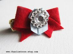 Baby/Girls Snow White Inspired Hair Bow Clip. www.charliecocos.etsy.com