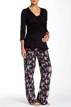 Margo Maternity/Nursing Pajama Set by Majamas on Nursing Pajama Set, Maternity Nursing Pajamas, Nordstrom Rack, Pregnancy, Pajama Pants, Jumpsuit, Swimsuits, Outfits, Clothes