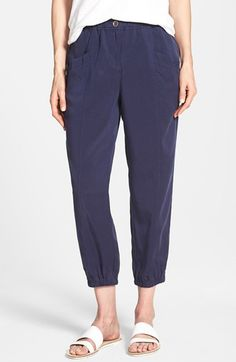 Eileen Fisher Tencel® Twill Tapered Crop Pants (Regular & Petite) available at #Nordstrom