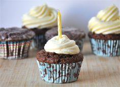 Vegan Chocolate Orange Cupcakes with Orange Frosting or Orange-Bourbon Glaze
