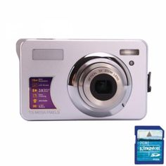 15MP Digital  Camera Silver  This camera has a CMOS sensor, 15MP resolution, 2.7 inch TFT screen, 15.0 megapixel mas resolution, Up to 32GB, Optical zoom lens, 4x digital zoom, and it comes in a silver color.