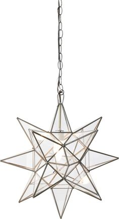 """Faceted 20"""" Star Pendant"""