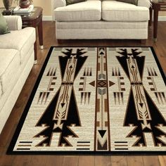 This Native American Arrow Natural Large Rug will look great in your home, cabin, or lodge! Create some outdoor charm in any room with this large area rug. Inspired by the first Americans, this beauti