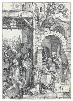 Albrecht Durer (1471-1528) The Adoration Of The Magi 1503 (300 x 208 mm)