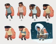 Eskimo character concept by Kurunya.deviantart.com on @deviantART
