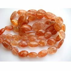 SunStone Beads Plain Oval Beads 8x13mm To 14x20mm by gemsforjewels, $76.45
