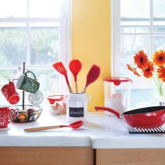 Handy helpers! The 4-piece utensils set features bamboo handles and heat-resistant silicone for all your baking and prepping needs, buy Avon Living products online at barbieb.avonrepresentative.com.
